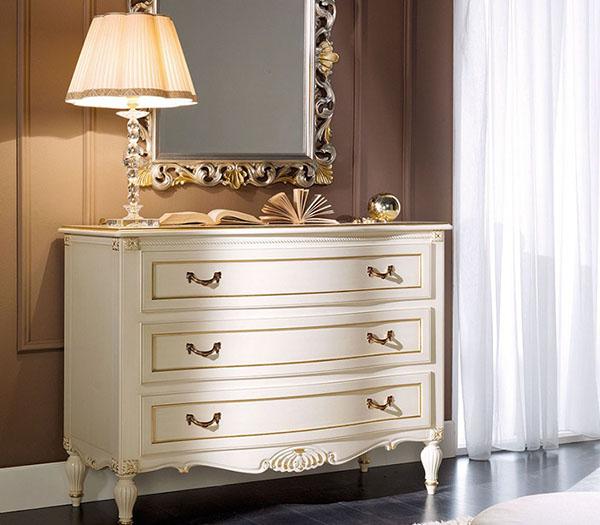 Foto n.1051 - Bianco patinato colore 9 + foglia oro - Dolcevita